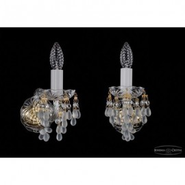 Бра  Bohemia Ivele Crystal,  1410/1/G/V0300
