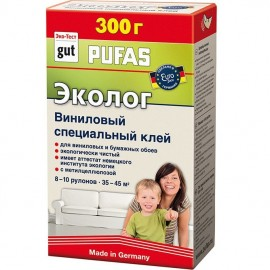 """Клей обойный виниловый специальный """"Эколог"""" Pufas 300 г"""