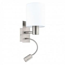 96477 Настенный светильник с дополнительной лампой для чтения Eglo Pasteri