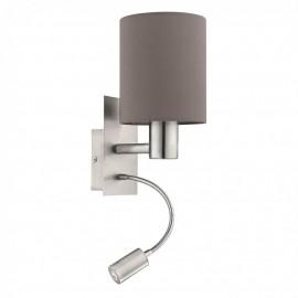 96481 Настенный светильник с дополнительной лампой для чтения Eglo Pasteri