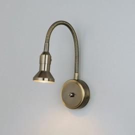 Подсветка с гибким проводом 1215 Plica бронза/золото ЕВРОСВЕТ
